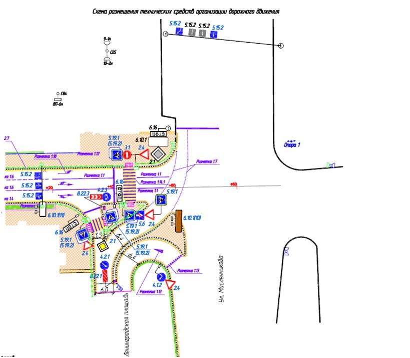 ВОмске поменяется схема движения наЛенинградской площади (КАРТА)
