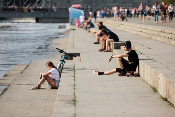 В такое время года Плотинка — самое популярное место в городе