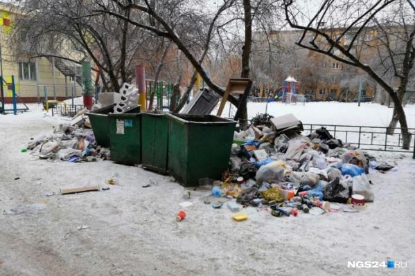 Перебои с вывозом мусора в Красноярске были год назад