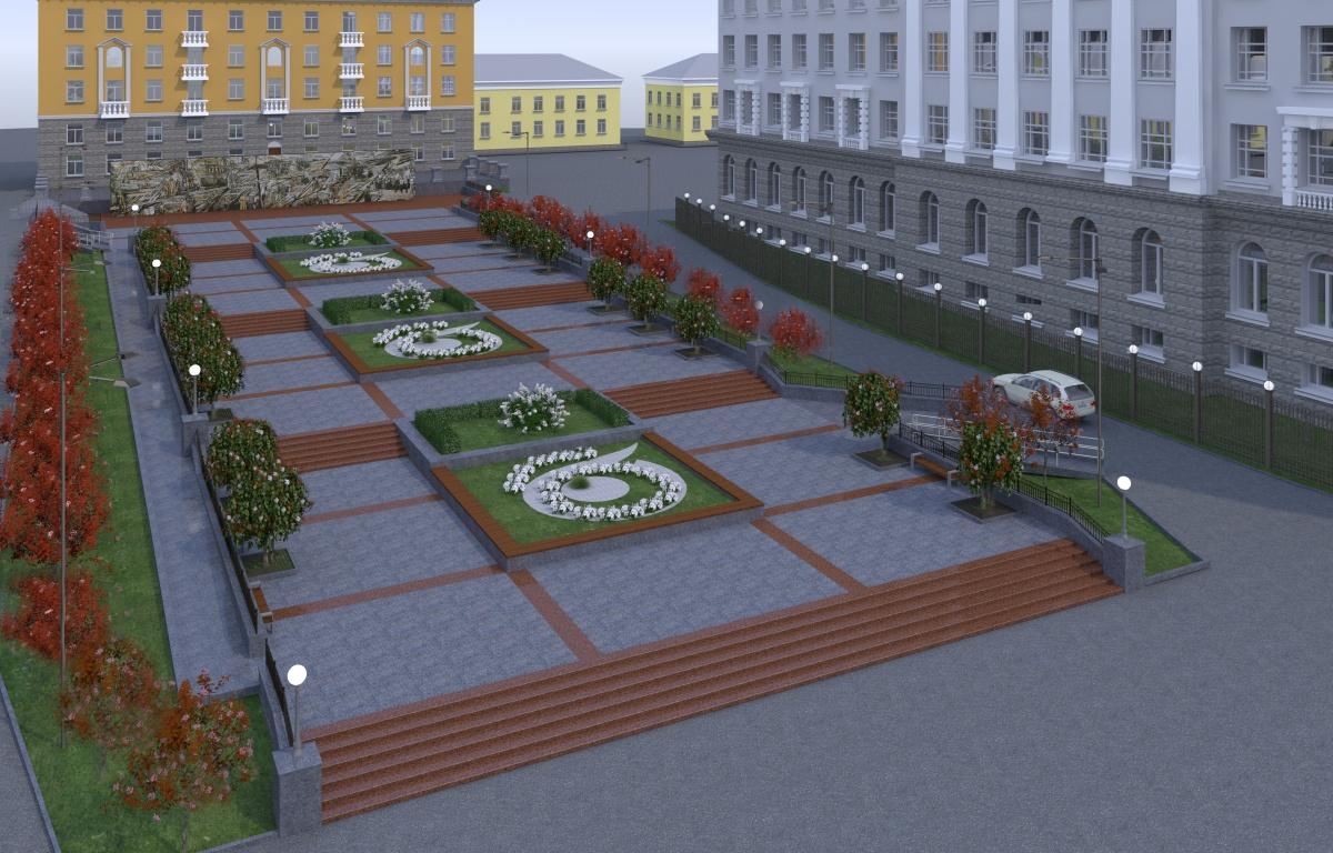 Рядом с Управлением железной дороги в Екатеринбурге появится сквер с яблонями и цветниками