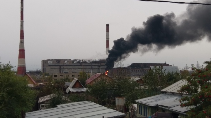 В Кургане на ТЭЦ-1 произошел пожар