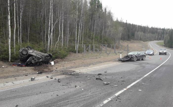 Авария с участием автомобиля Jaguar на дивногорской трассе