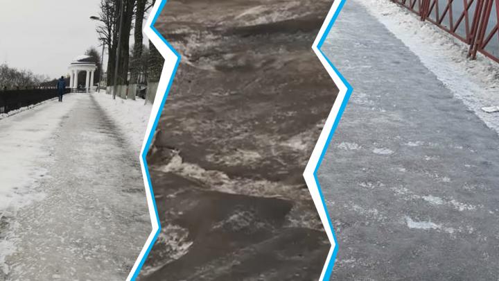 «Довели великий город»: ярославцы опозорили городскую власть за ледяные дороги
