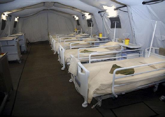 Госпиталь передали в распоряжениеНовосибирского медицинского отряда специального назначения Центрального военного округа