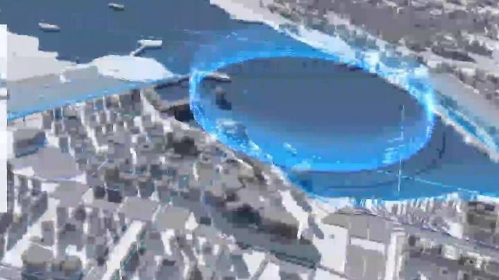 Над Визовским прудом решили сделать круглую монорельсовую дорогу: видеоэскиз