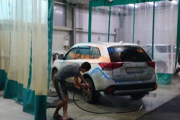 Машину легко отмыли водой