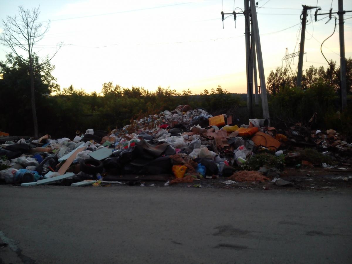 В Екатеринбурге ищут водителя КамАЗа, который завалил отходами целую улицу