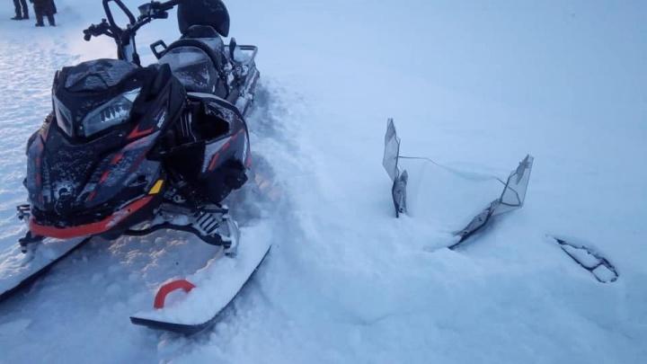 В Башкирии «Нива» на полном ходу снесла снегоход