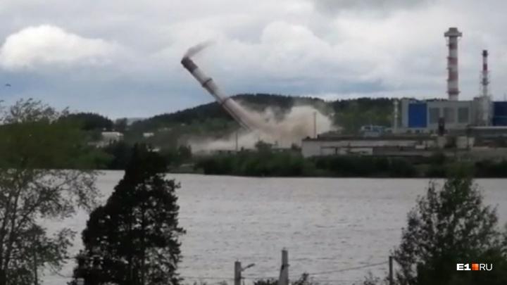 На свердловской электростанции взорвали трубы. Эффектное видео