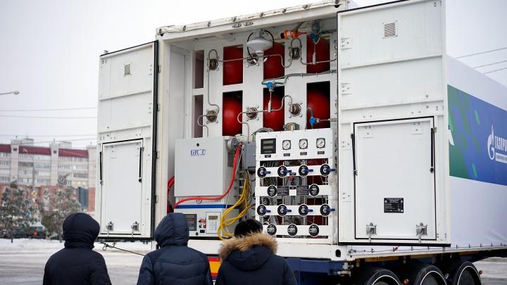 Мобильного заправщика не хватает: большие автобусы на метане продолжают заправляться в Лузино