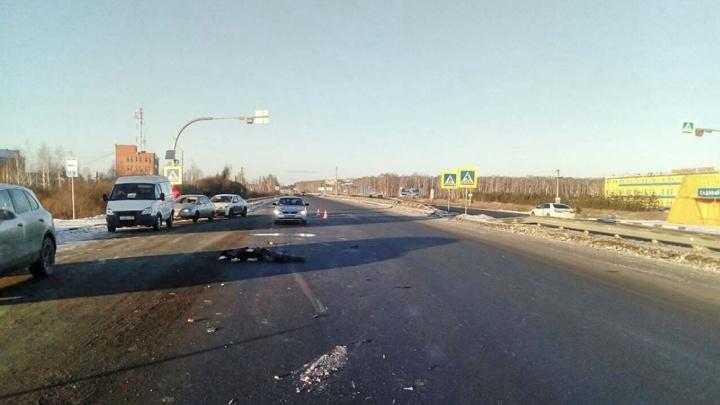 «Зебру» под Челябинском, где сбили насмерть рабочего фабрики, подсветили на прошлой неделе