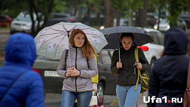 В понедельник в Башкирии ожидаются ливни с грозами