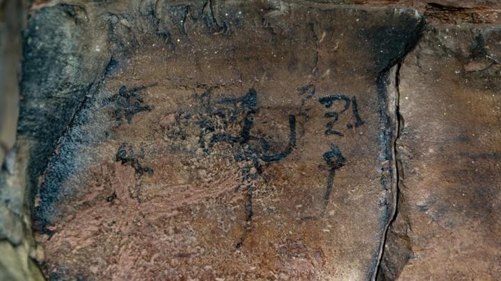 Новые наскальные тексты древних времен нашли археологи в Шалаболинской писанице