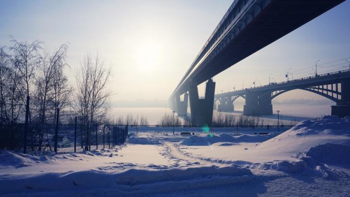 Морозная красота: сибирячка сняла красивый Новосибирск в –38 градусов