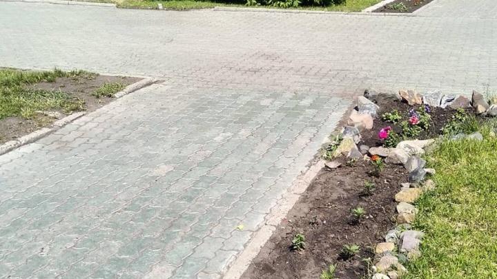 Красноярец в одном фото показал странности благоустройства Красноярска и причины непролазной грязи