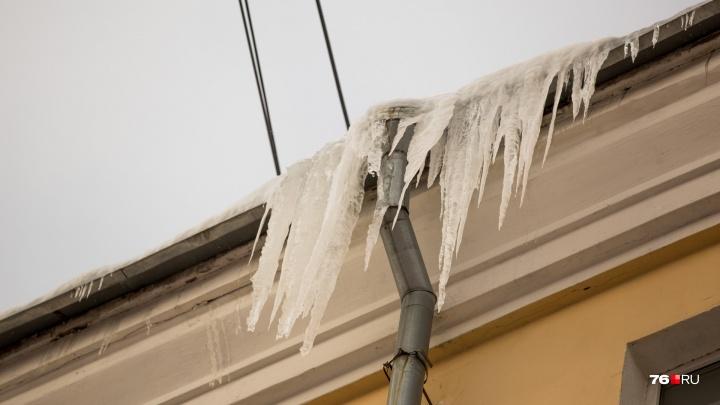 Глыбы льда падают на людей: кому жаловаться на нечищеную крышу