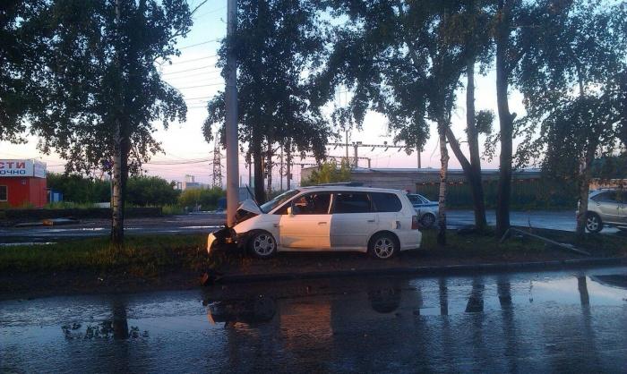 Авария произошла наГусинобродском шоссе в 4 утра 5 июля