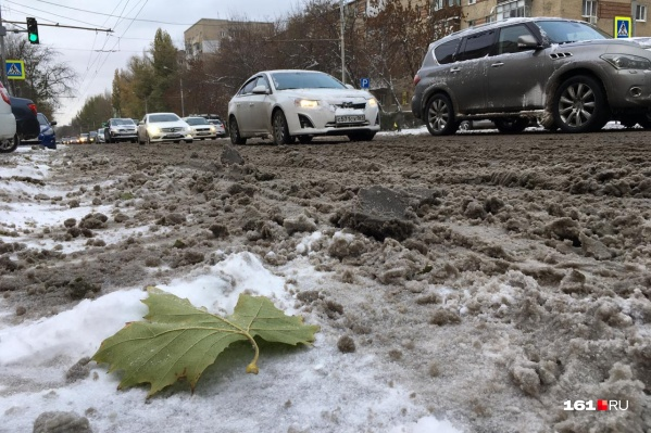 Первый снег застал город врасплох
