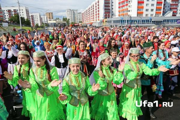 Башкирские костюмы понравились и немцам
