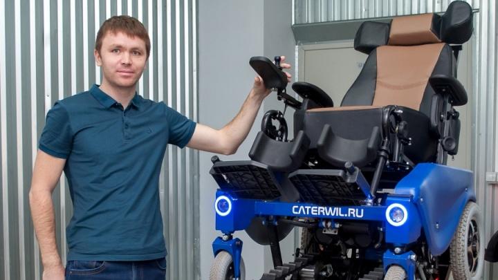 Видео: новосибирец придумал инвалидную коляску, которая управляется силой мысли