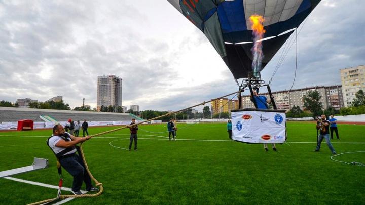 Башкирский силач смог посадить воздушный шар