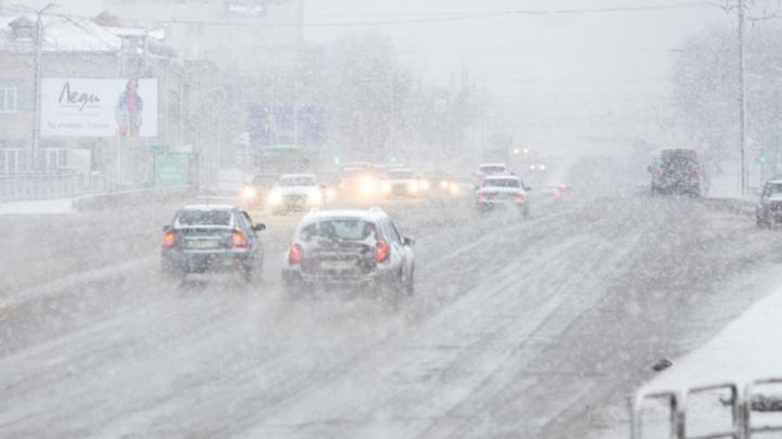 Опять метель: синоптики пообещали южноуральцам обильные снегопады и сильный ветер