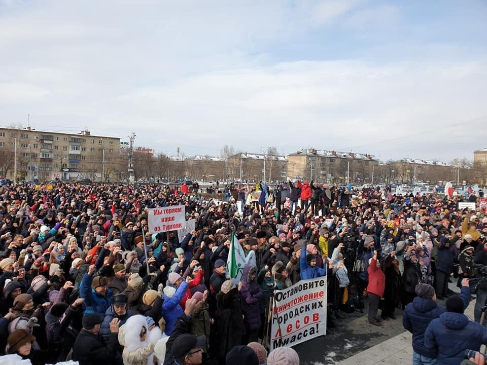 Высказаться против строительства ГОКа пришли больше тысячи горожан