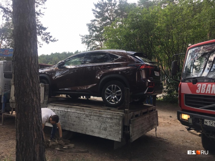 С территории парка увезли два дорогих автомобиля