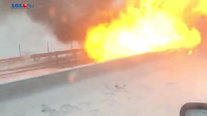 Момент взрыва «Газели» на М-4 «Дон» попал на видео