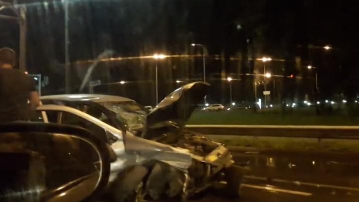 «Нырнула» носом: на Волжском шоссе перевернулась «Калина»