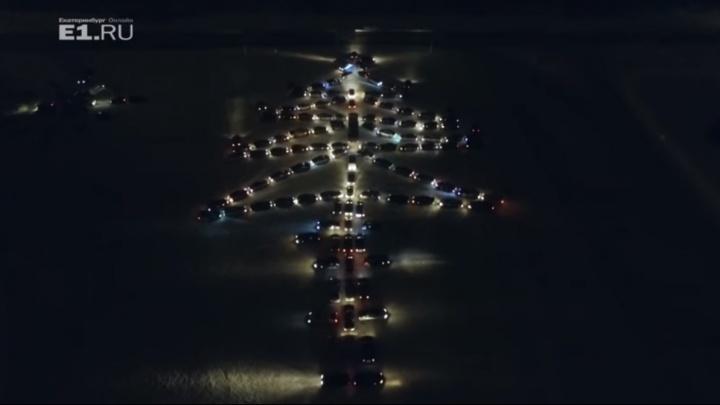Автомобилисты Екатеринбурга к Новому году соберут на стоянке огромную автоёлку