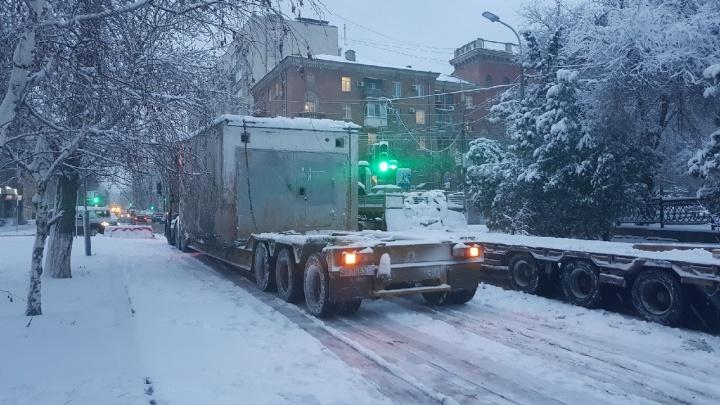 В Волгограде перекрыли улицу Порт-Саида