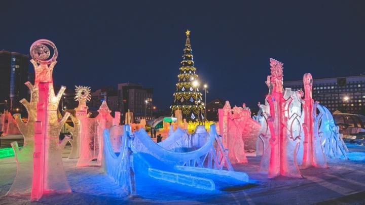 Ледовый городок на эспланаде в Перми закроют на один день