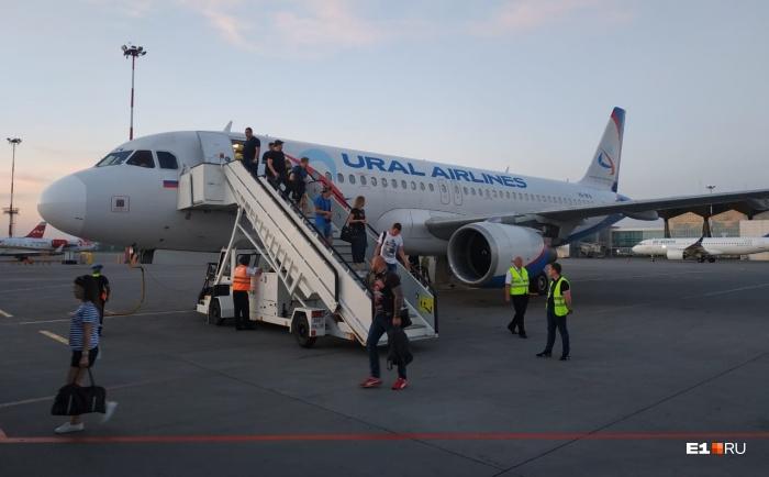 Самолёт вернулся в Пулково через полчаса после вылета