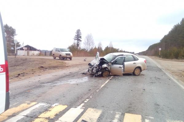Водитель этой машины серьезно пострадал