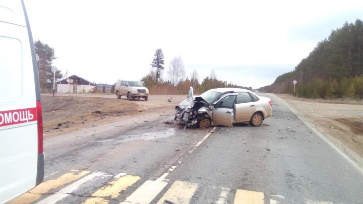 На трассе Кукуштан — Чайковский в аварии пострадали два водителя