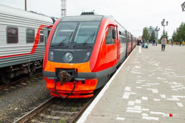Сейчас на рельсовом автобусе можно прокатиться между Северодвинском и Архангельском, а также — до Нёноксы