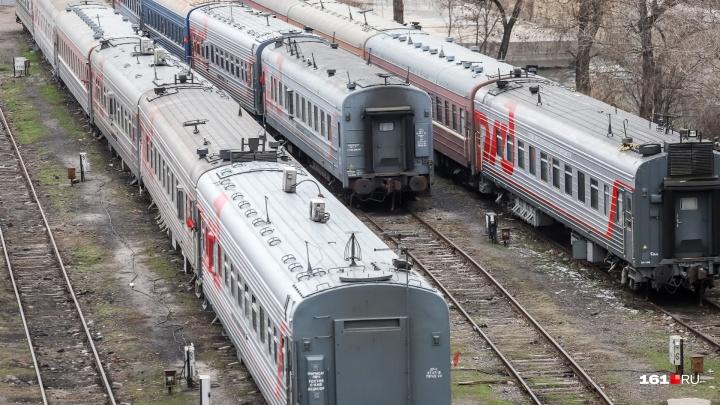 Пенсионера сняли с поезда за дебош в Ростовской области