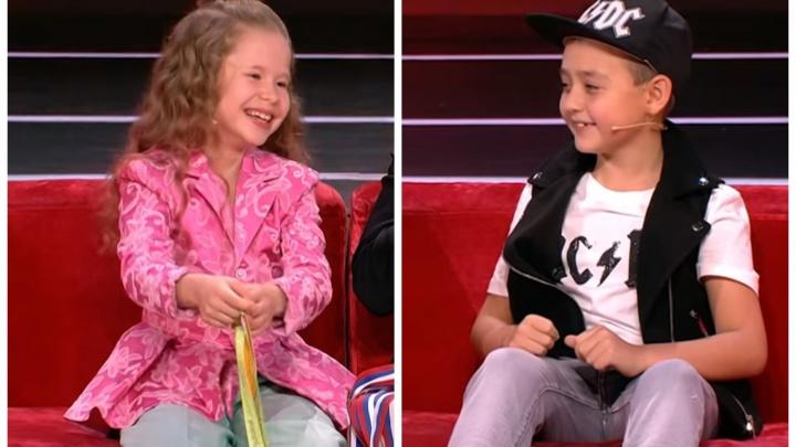 Маленький уральский ударник и юная гимнастка удивили Максима Галкина на шоу «Лучше всех!»
