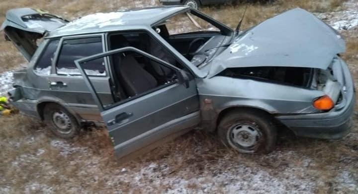 На трассе в Башкирии водитель не справился с управлением и улетел в кювет