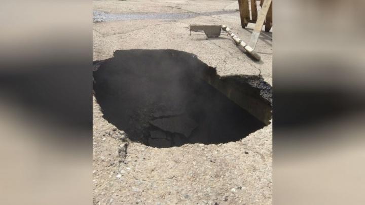Аварию на дороге у администрации в Уфе устраняет «БашРТС»