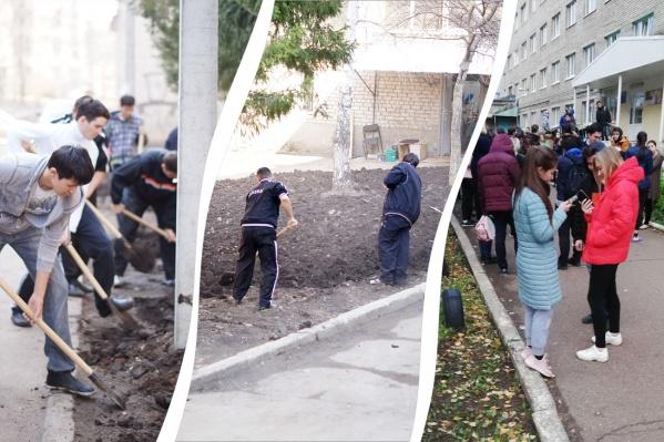 Отработки в общежитии — это мытье окон, покраска стен и копка земли