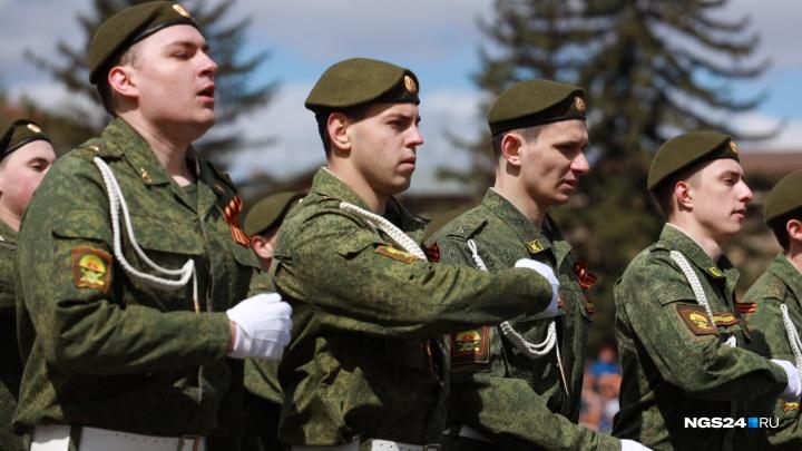Двадцать самых эффектных фото парада Победы в Красноярске