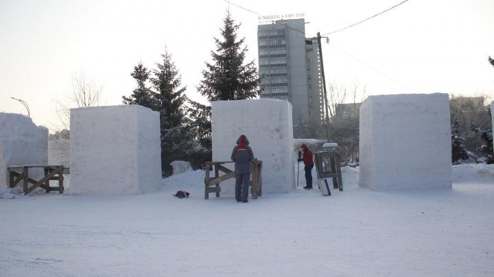 Лунный зритель и балерина из снега появятся в Первомайском сквере