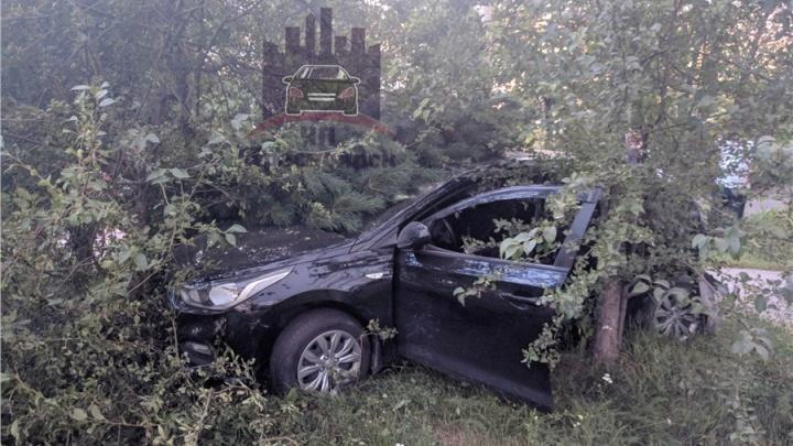 Экипаж ППС протаранил нарушителя на Hyundai. Водитель получил травмы