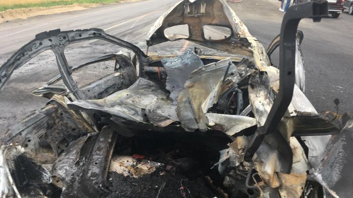 Под Тюменью взорвалась иномарка с газовым оборудованием