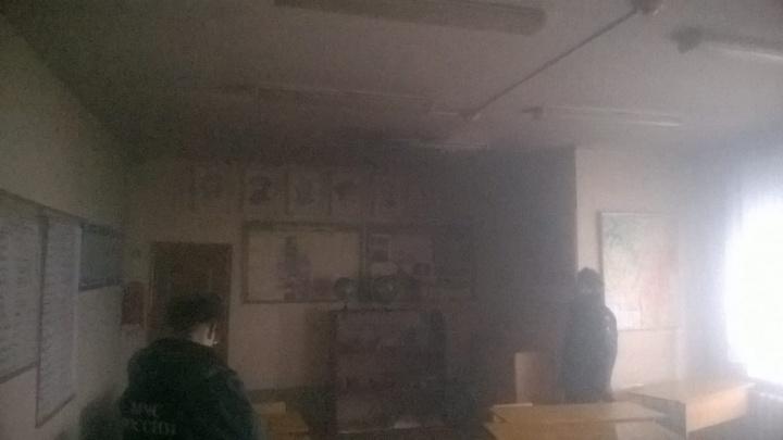 В Башкирии в школе загорелся кабинет физики