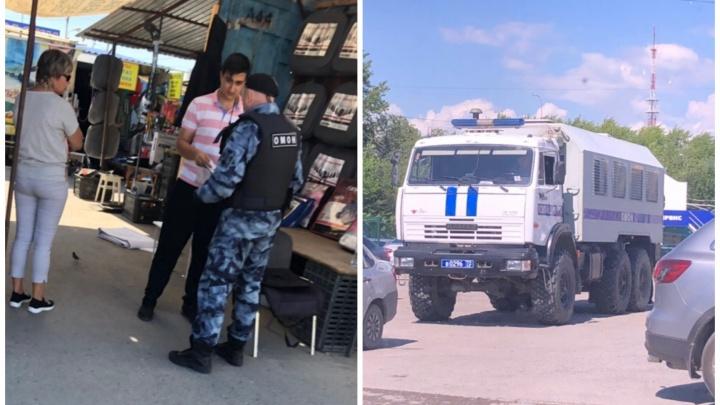 На тюменский рынок «Привоз» нагрянули ОМОН и полиция. Рассказываем, что случилось
