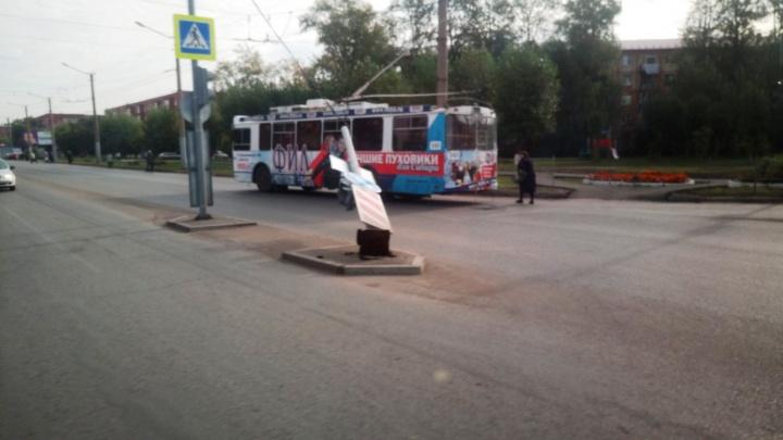 На Космическом проспекте из-за упавшего светофора троллейбусы встали на три часа