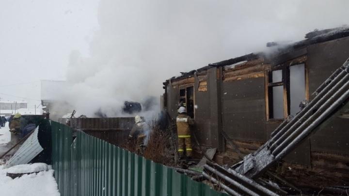 В селе Башкирии заживо сгорел мужчина